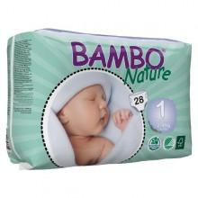 FRALDAS TAM 1 BAMBO NATURE 2-4 KG -28 UNI