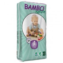 FRALDAS TAM 4 BAMBO 7-18 KG -60 UNI